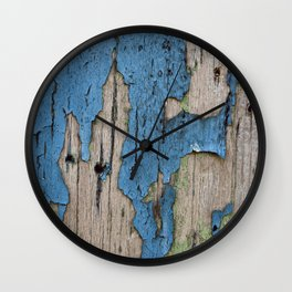 Blue Weathered Wood Wall Clock