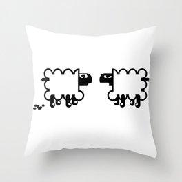 Angry Sheep III Throw Pillow