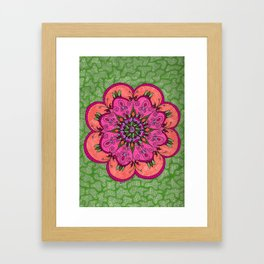 Pink Mandala Framed Art Print