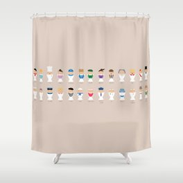 Occupations Alphabet Shower Curtain