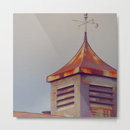 Rusted Rooftop Metal Print