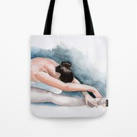 ballet Tote Bags featuring Ballet by rchaem