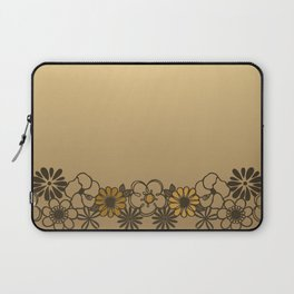 Kitschy Flower Medley Sepia Laptop Sleeve