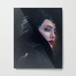 Maleficent in Oil / Sleeping Beauty Metal Print
