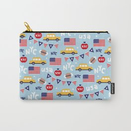 Made in the USA New York City icons pattern Carry-All Pouch