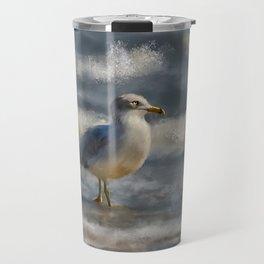 Seagull By The Seashore Travel Mug