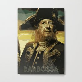 Barbossa Metal Print