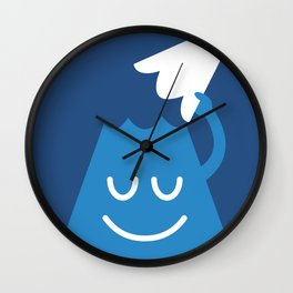 A Friendly Mountain Greeting Wall Clock