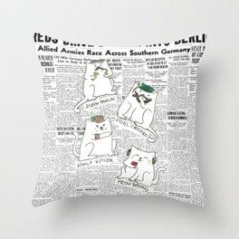 Dictator Cats Throw Pillow