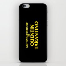 Written And Directed By Quentin Tarantino iPhone & iPod Skin