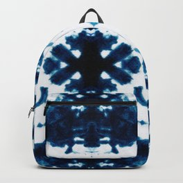 Velvet Shibori Blue Backpack