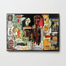 Jean-Michel Basquiat - Notary 1983 Metal Print