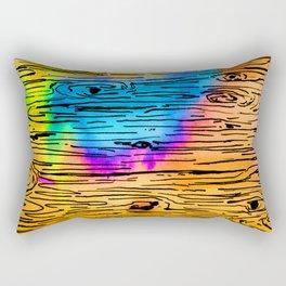 Technicolored Dream Plank Rectangular Pillow