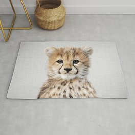 Baby Cheetah - Colorful Rug