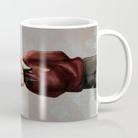 teacher Mugs featuring Teacher by Lee Grace Illustration