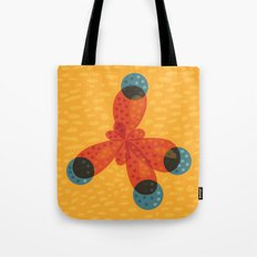 Orange Methane Molecule Tote Bag