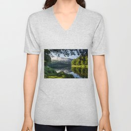 The River's Reflection Unisex V-Neck
