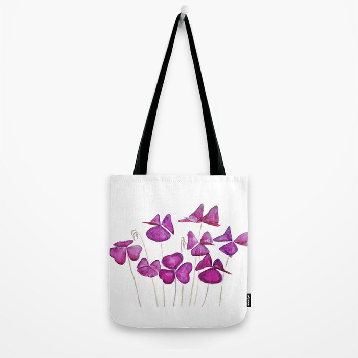 purple clover leaves Tote Bag