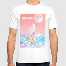 dreams Mens Fitted Tee MEDIUM White