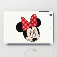 minnie mouse iPad Cases featuring So cute Minnie Mouse by Yuliya L