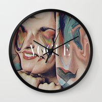 vogue Wall Clocks featuring Vogue by Mrs Araneae