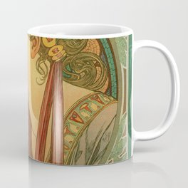 Alphonse Mucha Laurel Coffee Mug