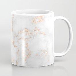 Rose Gold Glitter Marble Coffee Mug