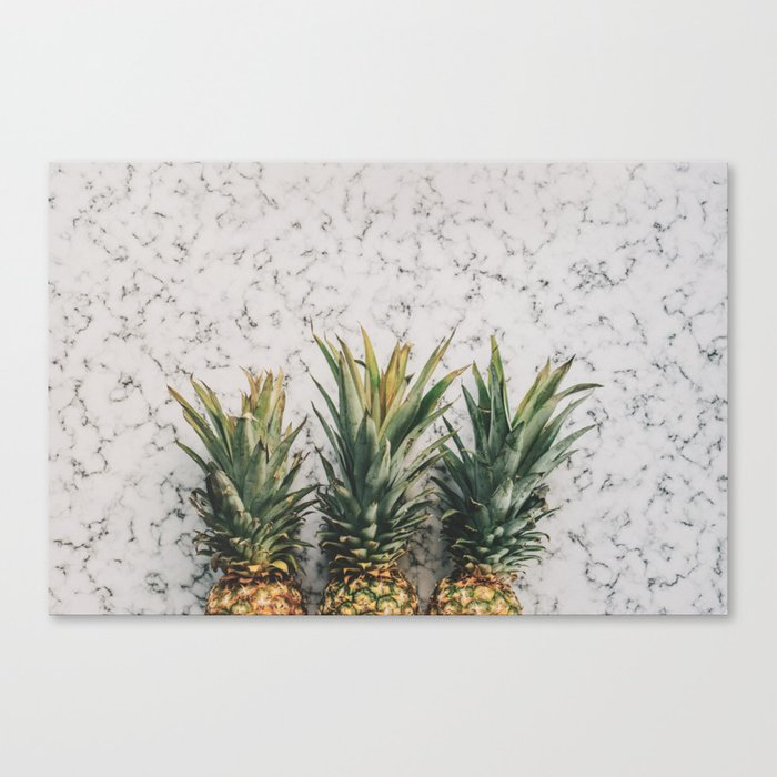 Pineapple marble Canvas Print