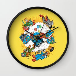 When Clown Cars Explode Wall Clock