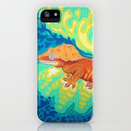 Red Crested Gecko iPhone Case