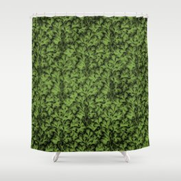 Vintage Floral Lace Leaf Greenery Shower Curtain