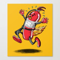 burning extinguisher Canvas Print