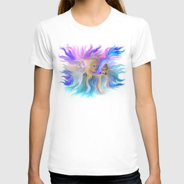 Woman Butterfly and Horse T-shirt