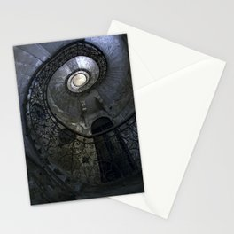 Spiral Staircase in blue and gray tones Stationery Cards