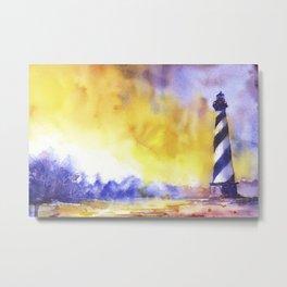 Cape Hatteras lighthouse- Outer Banks, North Carolina Metal Print