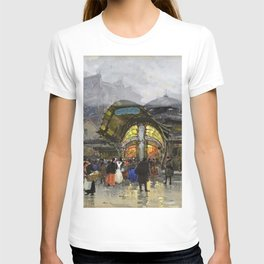 Underground Metro, Paris, France by Eugene Galien Laloue T-shirt