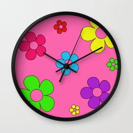 Flashback Pink Wall Clock