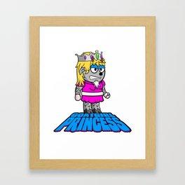 Goat Girl Princess Framed Art Print