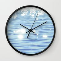 sparkles Wall Clocks featuring Sparkles by Shy Photog