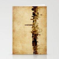 washington dc Stationery Cards featuring Washington DC Skyline by artPause