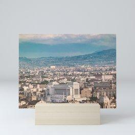 Rome Aerial View at Saint Peter Basilica Viewpoint Mini Art Print