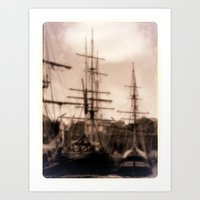 ships Art Prints featuring TALL SHIPS by STEELBACK