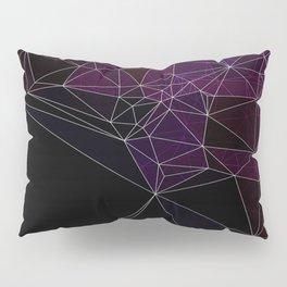 Polygonal purple, black and white Pillow Sham
