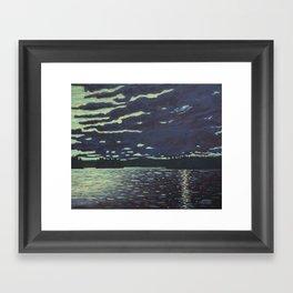Moonlight – McIntosh Lake, Algonquin Park Framed Art Print