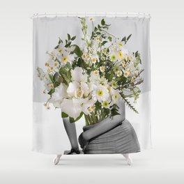 Flowers Spirit Collage Shower Curtain
