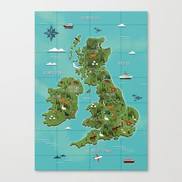 map england Canvas Print