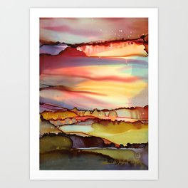 Cranberry Sunset Art Print