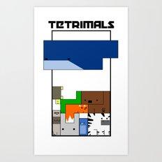Tetrimals Art Print
