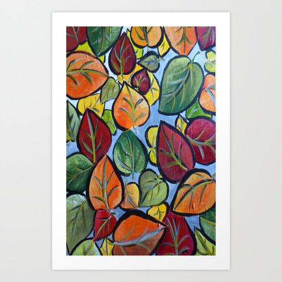 Autumn painting Art Print