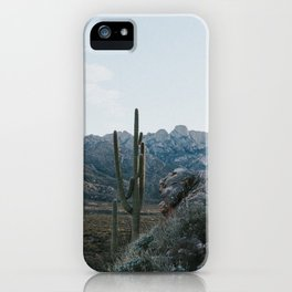 Saguaros on the mount iPhone Case